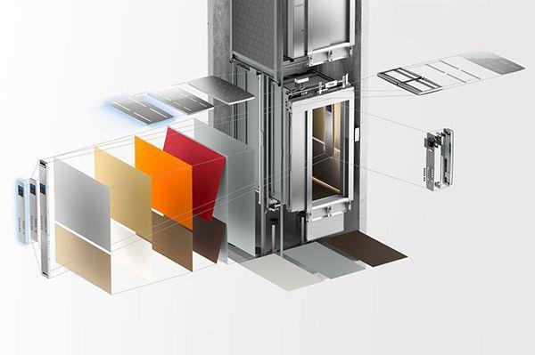 елементи за модернизиране на асансьор