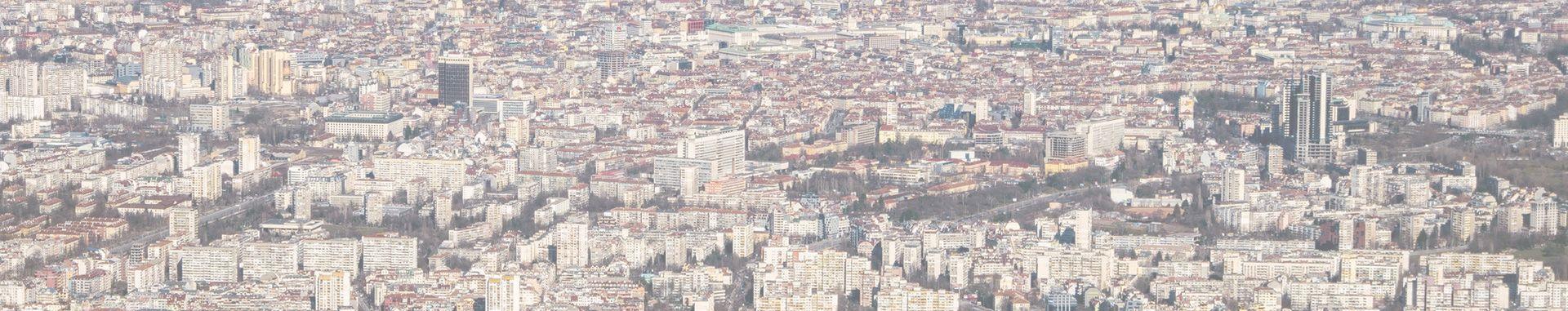 град София кадър от въздуха