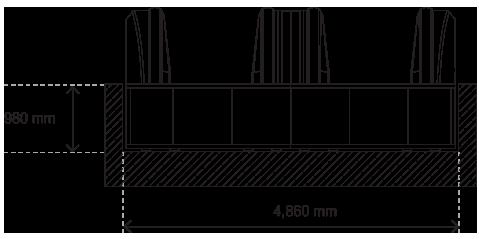 травелатор ACCEL план на двупосочна пътека