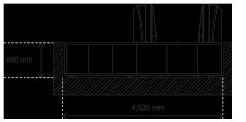 травелатор ACCEL план на еднопосочна пътека