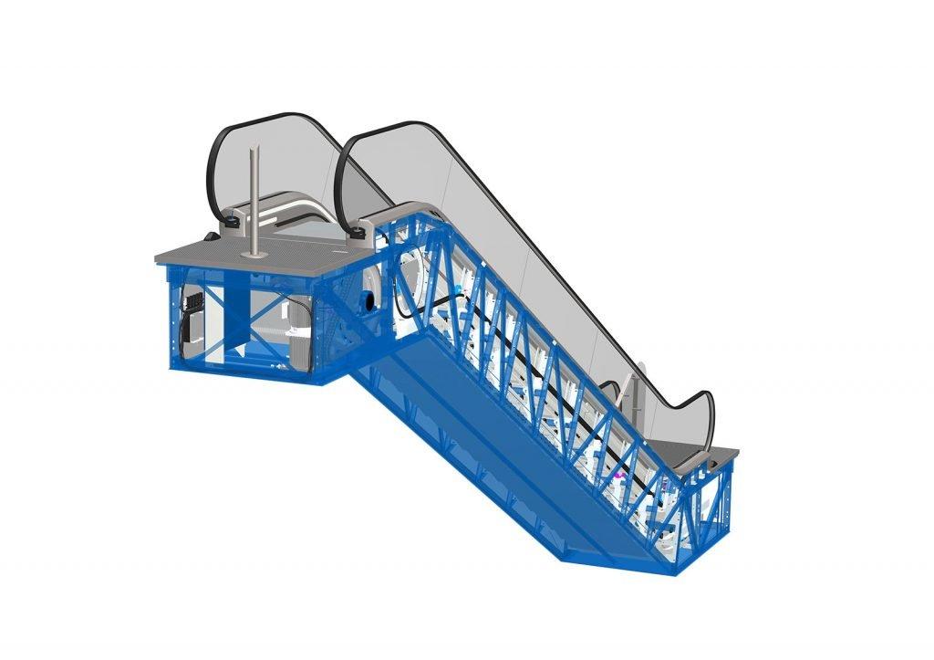 ескалатор ThyssenKrupp Velino дефлектори и ограничители на достъп