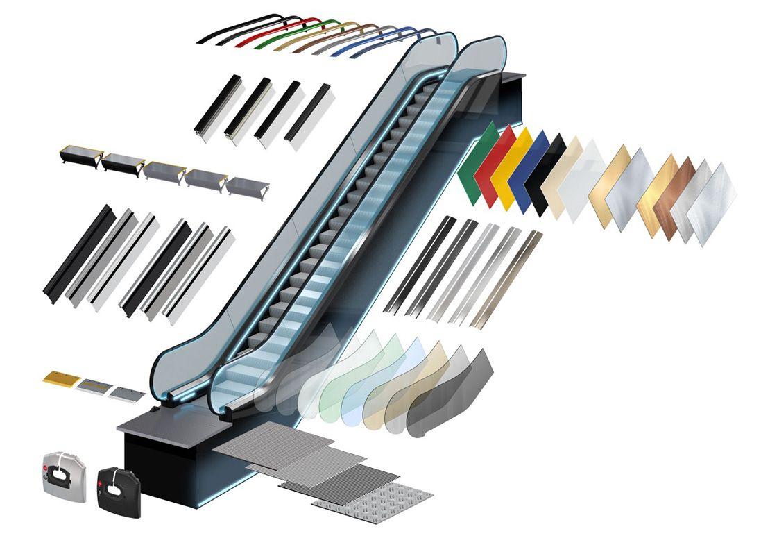 ескалатор Velino дизайнерски елементи