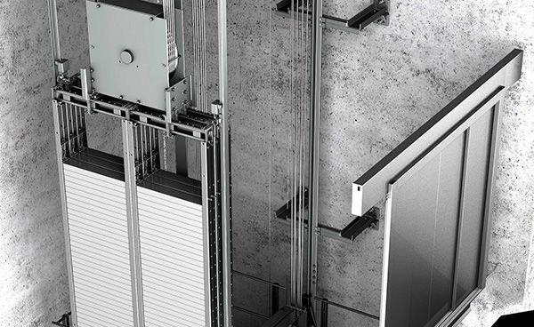 асансьорна шахта поглед отвътре