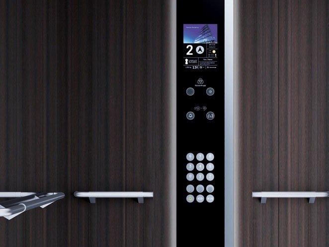 асансьор ThyssenKrupp Latitude детайл контролно табло с дисплей