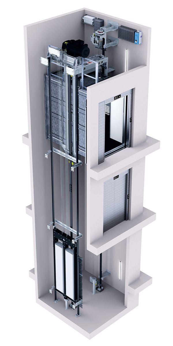 асансьор ThyssenKrupp Latitude схема на вътрешността