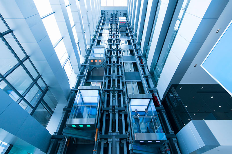 асансьор TWIN в интериор на сграда