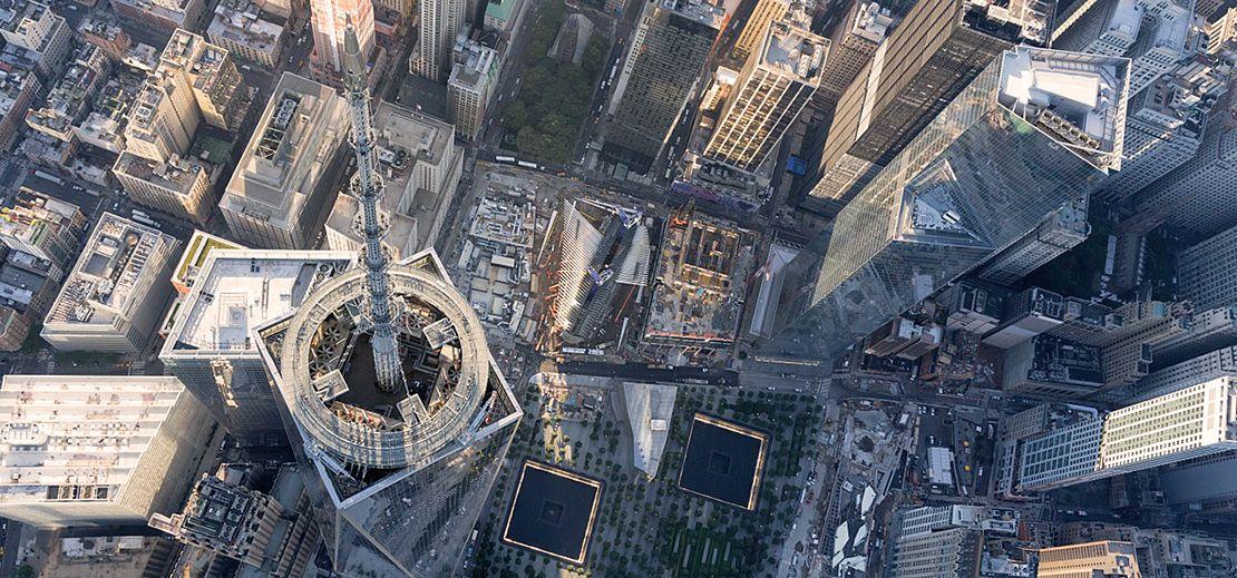 Световен Търговски Център поглед отгоре