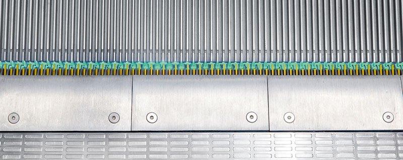 ескалатор Velino - светлинни индикатори за безопасност на стъпалата