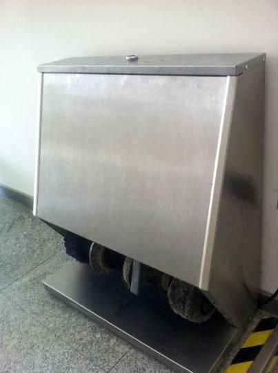 машина за чистене на убувки в суров вид