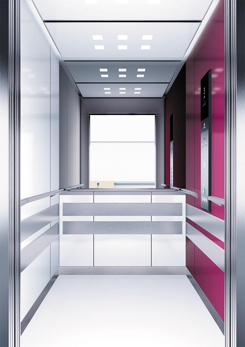 асансьор Synergy 300 проектирана кабина линия А12