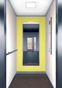 асансьорна кабина Synergy 100 - дизайнерска линия F - интериор 1