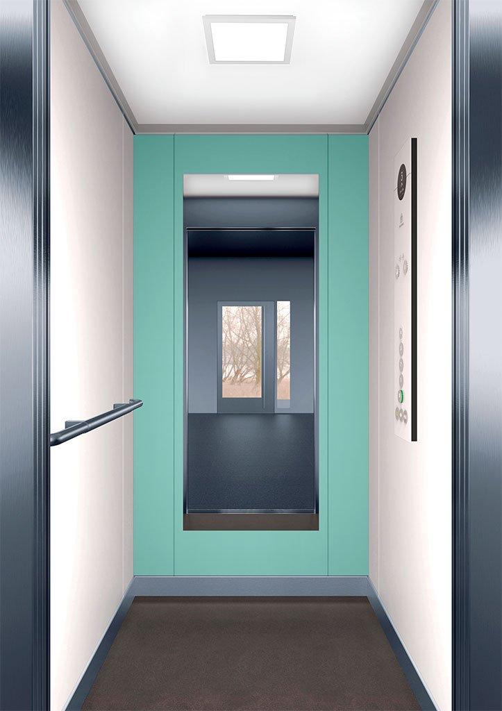 асансьорна кабина Synergy 100 - дизайнерска линия F - интериор 2