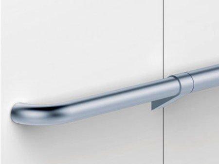 сребристи интериорни дръжки за асансьор ThyssenKrupp Synergy 300