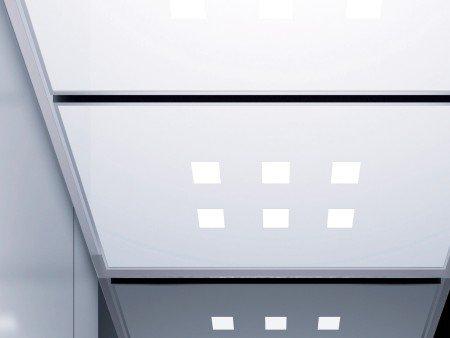 панел за таван асансьор ThyssenKrupp Synergy 300 серия B дизайн Grille