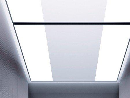 панел за таван асансьор ThyssenKrupp Synergy 300 серия B дизайн Runaway