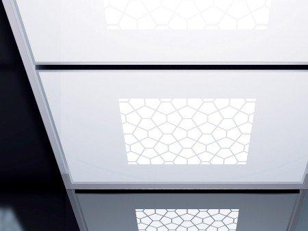 панел за таван асансьор ThyssenKrupp Synergy 300 серия B дизайн Tiffany