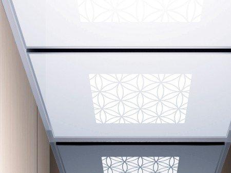панел за таван асансьор ThyssenKrupp Synergy 300 серия B дизайн Water lily