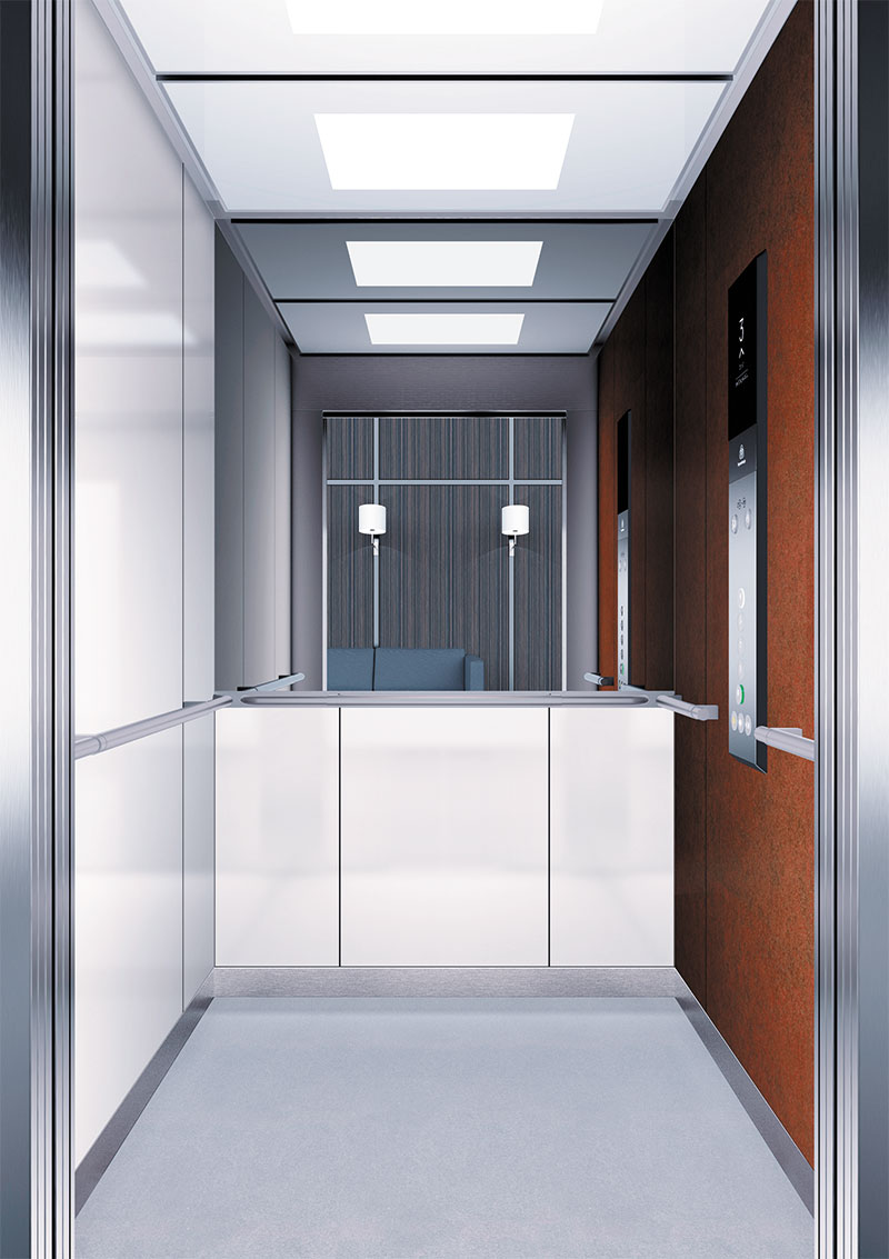 асансьор Synergy 300 готова интериорна кабина линия B40