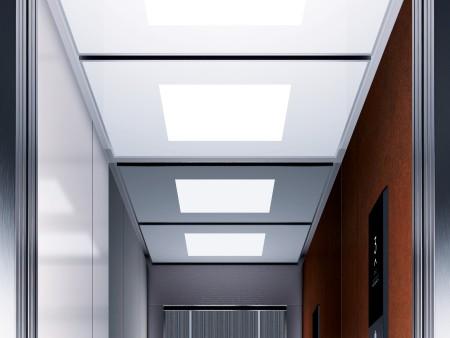дизайн на таван Lightbox на асансьорна кабина Evolution 100 линия C