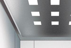 таван за кабина на асансьор ThyssenKrupp Synergy 100 със стоманена решетка устойчива на вандализъм