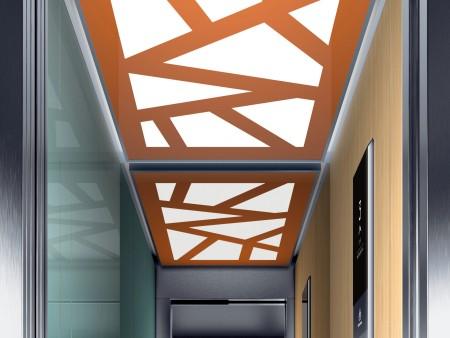 дизайн на таван Island на асансьорна кабина Synergy 200