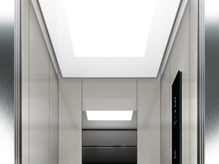 дизайн на таван Lightbox на асансьорна кабина Synergy 200 линия E