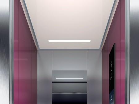 дизайн на таван Rocket на асансьорна кабина Synergy 200 линия E