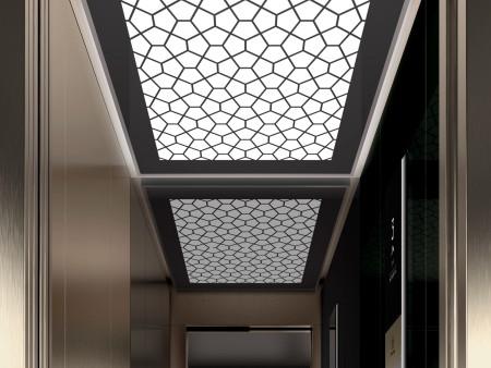 дизайн на таван Tiffany на асансьорна кабина Synergy 200