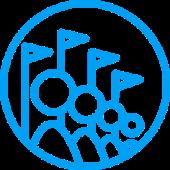 икона на асансьори за развлекателни и спортни съоръжения