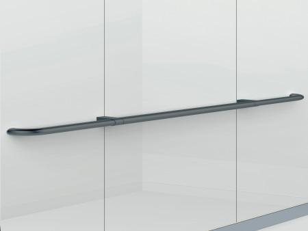 парапет за кабините на асансьор Synergy 200 - черен гланц, прав