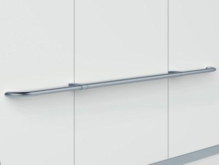 парапет за кабините на асансьор Evolution 100 - сребърен гланц, прав