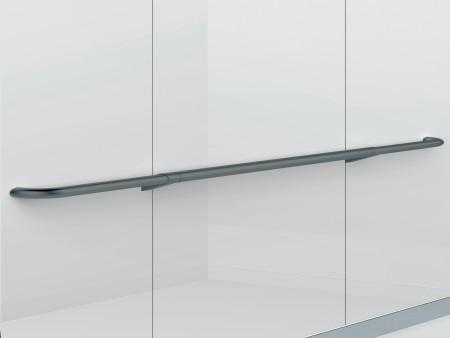 парапет за кабините на асансьор Synergy 200 - черен гланц, извит с обли краища