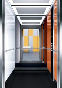 A21 дизайн на асансьорна кабина ThyssenKrupp Evolution 200