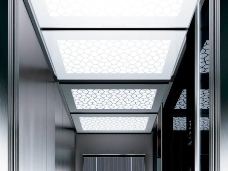дизайн на таван Tiffany Large на асансьорна кабина Evolution 200 линия А