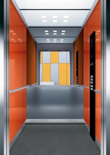 B24 дизайн на асансьорна кабина за асансьор ThyssenKrupp Evolution 200