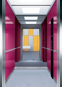 B25 дизайн на асансьорна кабина за асансьор ThyssenKrupp Evolution 200