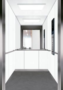 C02 дизайн на асансьорна кабина за асансьор ThyssenKrupp Evolution 200