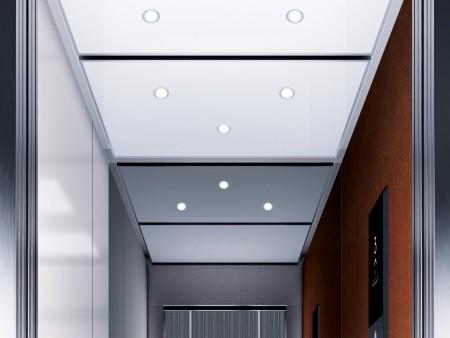дизайн на таван Spots LED на асансьорна кабина Evolution 200 линия B