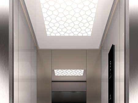 дизайн на таван Tiffany на асансьорна кабина Evolution 200 линия B