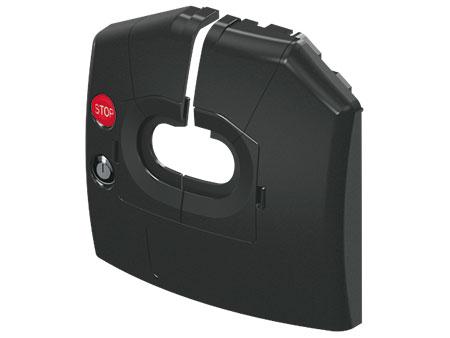 предна облицовка на ескалатори ThyssenKrupp от черен синтетичен материал