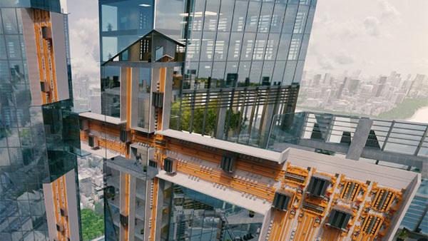 асансьори MULTI план за метрото