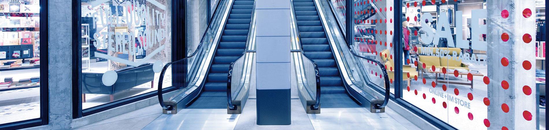 ескалатор ThyssenKrupp Velino в интериорно пространство